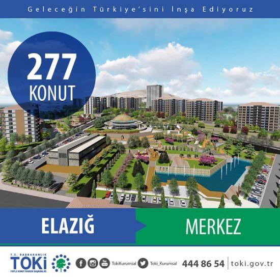 Elazığ'da 277 konut projenin ihalesi bugün yapıldı, Toki Elazığ Merkez 277 konut ihalesi,