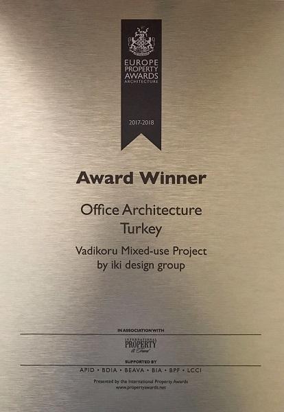 Vadikoru'ya Avrupa'dan en iyi ofis mimarisi ödülü, Vadikoru, Vadikoru projesi, Bahattin Uçar, Invest İnşaat,