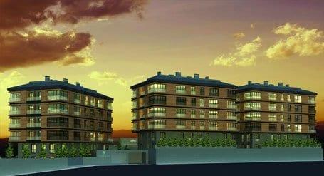 Terrace Bahçe konutlar metrekaresi 3 bin ile 3 bin 500 lira