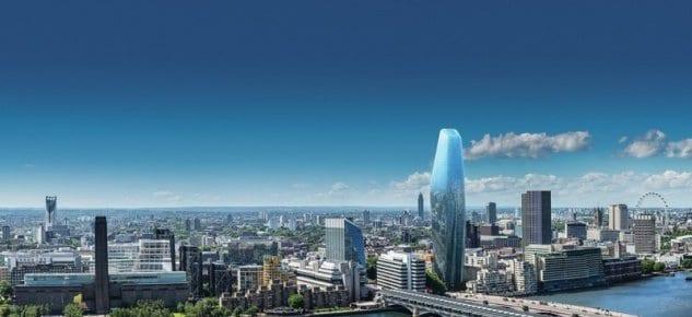 Londra'da Thames Nehrinin Kıyısında Muhteşem Bir Proje One Blackfriars