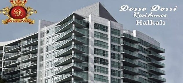 Dosso Dossi Residence Halkalı 2017'de başlıyor! 450 bin TL'den başlayan fiyatlarla!