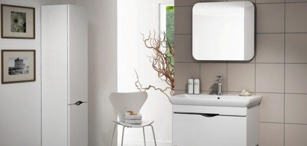 Banyo dekorasyonunda gri beyaz trendi!