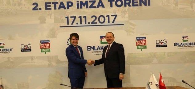 2 milyar tl'lik Bizim Mahalle 2.etap arsası için imzalar atıldı