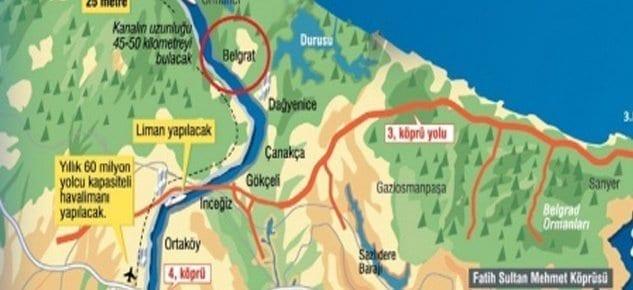 Kanal İstanbul'un rotası belirlendi