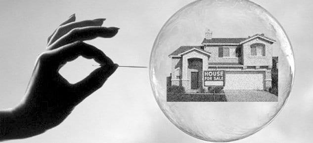 Fiyatlar 2007'nin % 11 altında, evde balon yok