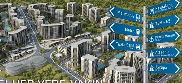 Evora İstanbul'da 3+1 daire'de yüzde 10 indirim