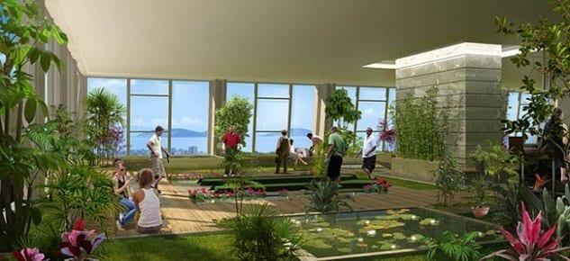 Dap Yapı Satış ofisini 20. kattaki golf pistine taşıdı