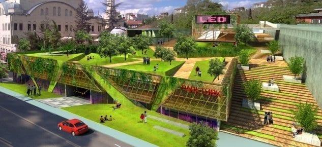 Zeytinburnu yeni kent meydanına Parkturk ile kavuşuyor