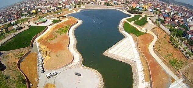 Sultanbeyli Gölet'in yüzde 95'i tamamlandı!