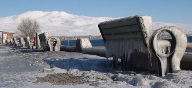 Şehir resmen buz kesti