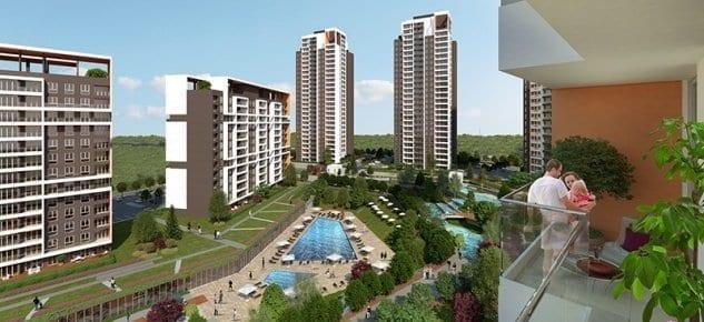 Göl Panorama Evleri'nde 215 bin lira'ya 1+1 daire