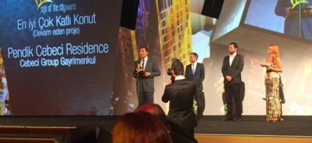 Pendik Cebeci Residence'a büyük gecede, büyük ödül!