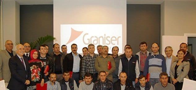 Graniser 15 yılını dolduran çalışanlar özel tören ile onurlandırıldı