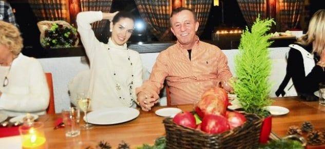 Ali Ağaoğlu Rus sevgilisiyle Uludağ'da