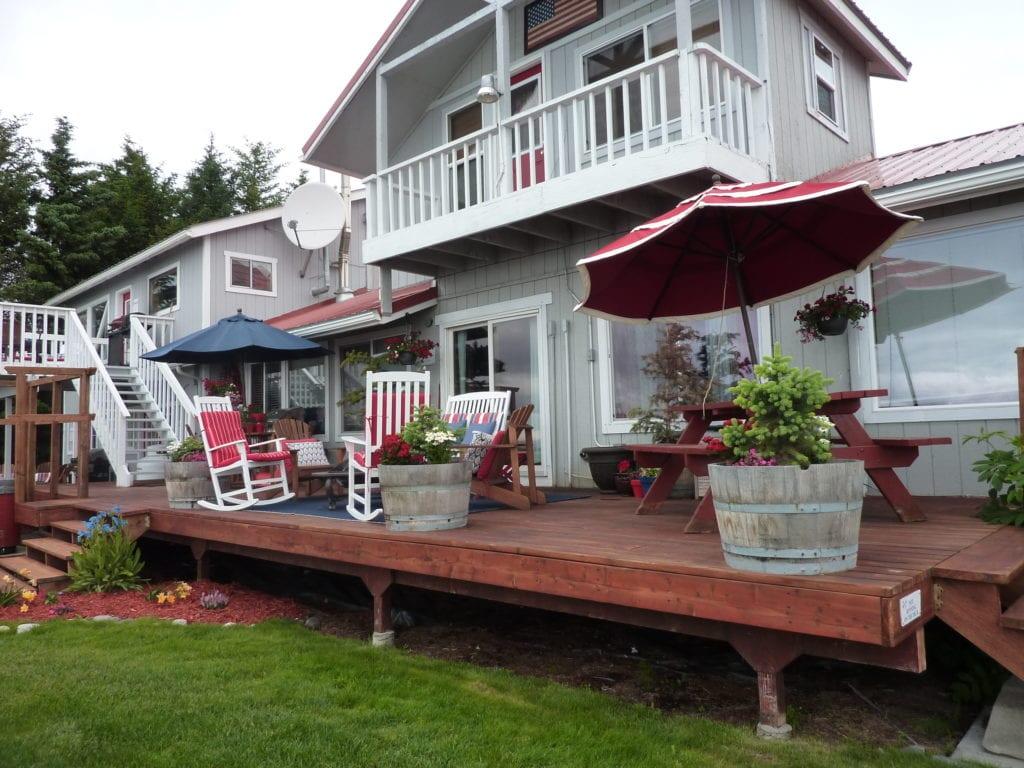 Alaska Evlerinde veranda