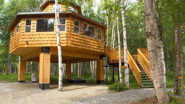 Alaska ilginç şekilli evlere de ev sahipliği yapabiliyor