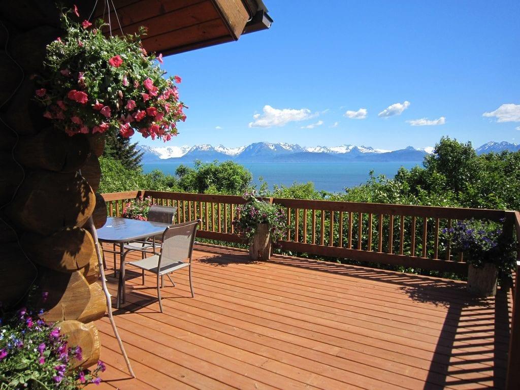 Alaska Evleri nde veranda