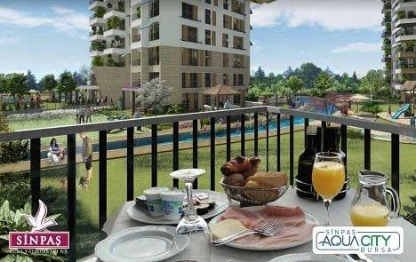 Sinpaş Aqua City Bursa dış mekan