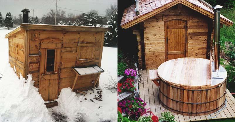 Alaska banyo, sauna ve tuvalet