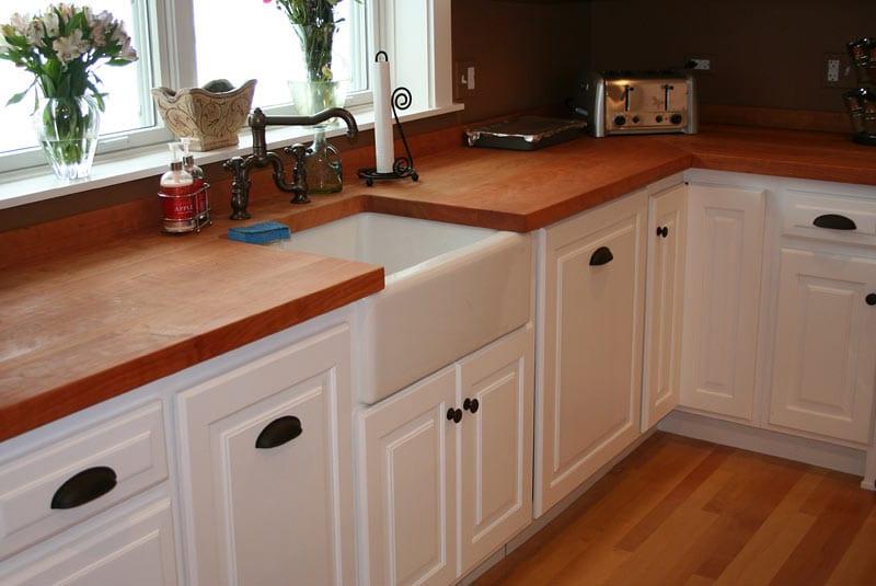 Masif ahşap mutfak tezgahı