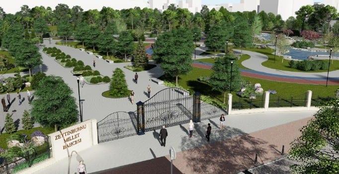 Türkiye'deki İlk Millet Bahçesi Zeytinburnu'nda